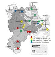 Die Kläranlagen im Kanton Luzern. (Bild: PD)
