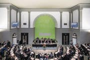 Blick in den Luzerner Kantonsratssaal während der letzten Budgetdebatte. (Bild: Pius Amrein (12. Dezember 2016))