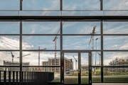 Der Bauboom in der Agglomeration Luzern zeigt sich auch im Gebiet Schweighof. (Bild: Pius Amrein (Kriens, 27. Juni 2017))