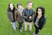 Das der Horwer Jugendanimation: Martina Vogler, Stefanie Ambühl, Dominik Bisan und Livia Lustenberger (von links). (Bild pd)