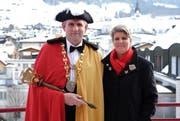 Lieben Traditionen wie die Fasnacht: Adolf und Yvonne Barmettler. (Bild: Richard Greuter / Neue NZ)