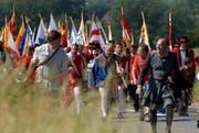 Impression von der Gedenkfeier im Jahr 2006. (Bild Adrian Stähli/Neue LZ)