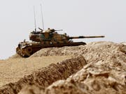 Die Türkei will von Kurden kontrollierte Gebiete in Norwestsyrien besetzen. Damaskus warnt davor eindringlich. (Bild: KEYSTONE/EPA/SEDAT SUNA)
