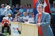 Bundesratskandidat Ignazio Cassis befürchtet eine Einschränkung seines textilen Handlungsspielraums. (Bild: Davide Agosta/Ti-Press)
