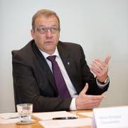 Der Nidwaldner Finanzdirektor Alfred Bossard. (Bild: Corinne Glanzmann (Stans, 5. April 2016))
