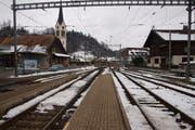 Der Bahnhof Menznau im heutigen Zustand. Bereits im Januar starten die Umbau-Arbeiten. (Bild: PD)