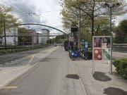 Eine Kleinplakatstelle am Kasernenplatz in der Stadt Luzern. (Bild: Visualisierung PD)