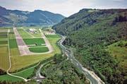 Die Mündung der Sarneraa mit dem Südufer des Alpnachersees. (Bild: PD)