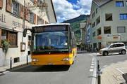 Ein Postauto fährt von Emmetten über Beckenried (Bild) nach Stans. (Bild Matthias Piazza)