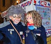 Judith und Sepp Giger: mit «1ER»-Rikscha. (Bild: su)