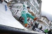 Pascal Christen bei einem Jump. (Bild André A. Niederberger)