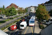 Autobahn-Ausfahrt Luzern-Zentrum und Kasernenplatz. (Bild: Archiv rem)