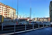 Auf diesem Grundstrück bei der Langensandbrücke beim Bundesplatz soll der Bau eines Hochhauses bis 36 Meter Höhe möglich sein. (Bild: Nadia Schärli / Neue LZ)