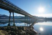Das Viadukt von Willerzell über den Sihlsee nach Einsiedeln. (Bild: PD)