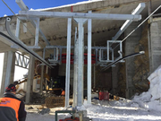 Die Einfahrt in die Bergstation der Sesselbahn Eisee-Rothorn während des Umbaus. (Bild: PD/BBS AG)
