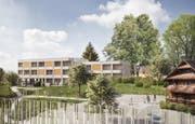 Auf dem Neuschwand-Areal entstehen 150 neue Wohnungen. (Bild: Visualisierung: PD)