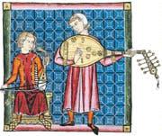 Zwei Minnesänger – aus den «Cantigas de Santa Maria», um 1280. (Bild: Keystone)