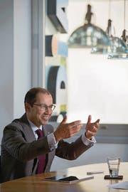 Concordia-CEO Nikolai Dittli am Hauptsitz in Luzern. (Bild: Nadia Schärli (Luzern, 25. August 2016))