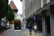 Ein Blick in die Seidenhofstrasse in Luzern. Der Unfall ist weiter vorn auf der Seite der Pilatusstrasse passiert. (Bild: Archiv Neue LZ (Symbolbild))
