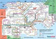 Der neue Zonenplan in der Stadt Luzern, gültig ab 14. Dezember 2014. (Bild: PD)