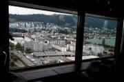 Blick auf die Gebäde der kantonalen Verwaltung in Zug. (Bild: Stefan Kaiser)