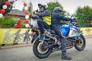 Ausgewählte Kategorien werden von einem Motorrad mit einem Kameramann begleitet. (Bild: chrisroosfotografie.ch)