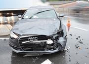 Der Unfall führte zu Verkehrsbehinderungen. (Bild: Luzerner Polizei)
