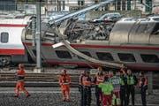 Wegen der Entgleisung war der Bahnhof während fünf Tagen blockiert. (Bild: Nadia Schärli (Luzern, 22. März 2017))