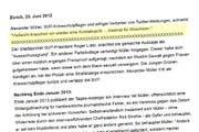 Die Endfassung nach dem Rechtsstreit: Auf www.hans-stutz.ch ist ein Satz ist gelöscht, das folgenschwere Zitat steht noch. (Bild: Screenshot Christian Volken / luzernerzeitung.ch)