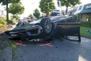 Die Unfallstelle in Sihlbrugg. (Bild: Zuger Polizei)