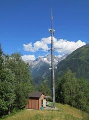 Im September 2017 umgebaute Mobilfunkanlage «unter Axeli» in Gurtnellen. (Bild: PD)