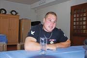 Joel Wicki gestern im Hotel Rischli in Sörenberg. (Bild Claudio Zanini)