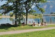 Seeschüttung im Urner Reussdelta in den Gemeinden Seedorf und Flüelen. (Bild: PD / Felix Jungo)