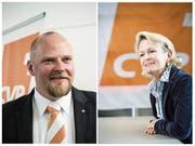 Der designierte CVP-Präsident Christian Ineichen und Nationalrätin Andrea Gmür. (Bilder: Nadia Schärli, Manuela Jans-Koch)