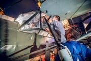 Der Schweizer Verein «Freunde des Fieseler Storch» wird das Flugzeug wieder flugfähig machen... (Bild: Photopress / Gregor Kaluza)