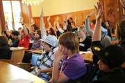 Luzern spricht sich für Jugendparlament aus. Das Bild stammt aus dem Landratssaal in Altdorf. (Bild: Urs Hanhart / Neue UZ)