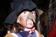 Irene Sigrist, erst 8 Jahre alt und schon eine richtige gfürchige Tobelhexe. (Bild Monika Barth/Neue OZ)