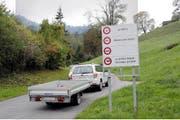 Die Sanierung der Wiesenbergstrasse beschäftigt den Landrat. (Bild Martin Uebelhart)