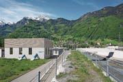 Visualisierung der Zentrale des künftigen Kraftwerks Schächen im Schächenwald-Areal. (Bild: PD)
