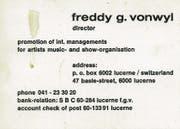 Vonwyls nur ganz leicht übertreibende Visitenkarte. (Bild: PD)