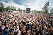 Feststimmung unter den 36 000 Besuchern während des Konzerts von Dabu Fantastic. (Bilder: Roger Grütter (Zofingen, 12. August 2017))