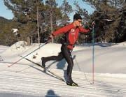 Ist gut gerüstet für die Langlaufsaison: der 22-jährige Andrin Näpflin aus Beckenried. (Bild: Avelino Näpflin (Langis-Glaubenberg (6. Dezember 2017))