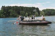 So wie damals auf dem Lac de Bret VD werden übernächste Woche auf dem Sarnersee die Fische gezählt. (Bild: PD)
