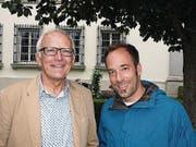 Sepp Odermatt (Speaker von 1987-1996, links) und der neue Speaker Christian Graf. (Bild: Kurt Liembd (NZ) (Nidwaldner Zeitung))