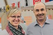Gemeinderätin Ursula Barmettler und Präsident Toni Mathis. (Bilder Rosmarie Berlinger)