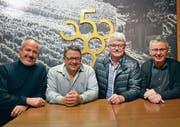 Die Geehrten (von links): Max Brücker, Stefan Arnold, Karl Stadler und Präsident Toni Brand. (Bild: PD)
