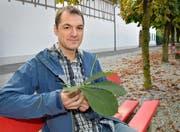 HSLU-Absolvent und Ingenieur: Philipp Burch. Bild: Romano Cuonz (Sarnen, 5. Oktober2016)