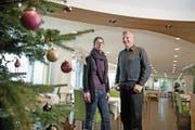 Claudia und Rolf Stucki im «Nidwaldnerhof» in Beckenried. (Bild: Corinne Glanzmann (19. Dezember 2017))