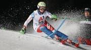 Bleibt fokussiert – auch im Erfolgsfall: B-Kader-Athletin Carole Bissig. (Bild: Marco Trovati/Keystone (Flachau, 9. Januar 2018))