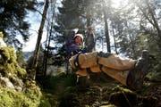 Aaron Britschgi will auf der Stöckalp einen Seilpark errichten. (Bild: Nadia Schärli / Neue LZ)